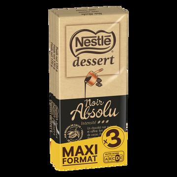 Nestlé Chocolat Noir Absolu Nestlé Dessert, 3x170g
