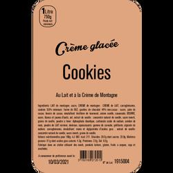 Crème glacée aux cookies LA TURBINE A SAVEURS, bac 1 litre