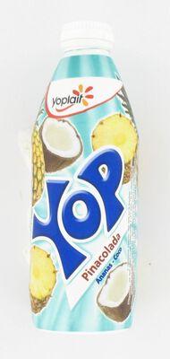 Yaourt à boire parfum pinacolada YOP, bouteille de 500g