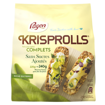 Krisprolls Pain Grillé Suédois Nature Complet Sans Sucre Krisprolls, Sachet De 240g
