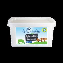 Faisselle fermière  LE CRAULOIS, 4,5%mg, 4x100g