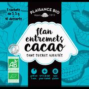 Plaisance Bio Entremets Non Sucré Chocolat Bio Plaisance Bio, 8x1/4 Litre, 44g