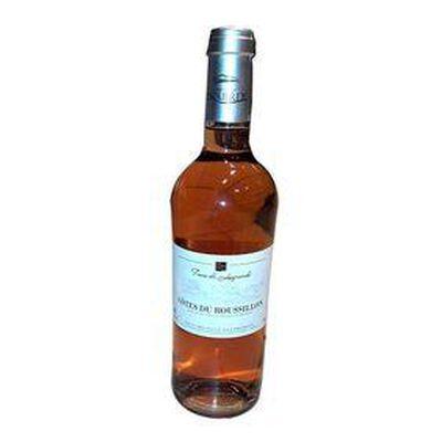 Vin Rosé  TERRES DE LESQUERDE , Côtes du Roussillon , DOMAINE AGLY, bouteille de 75Cl