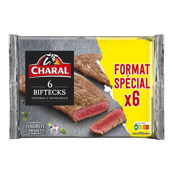 Charal Bifteck Format Spécial, Charal, France, 6 Pièces, 600g