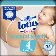 Lotus Couches Lotus Baby, Taille 4, 7 À 14 Kg, 38 Unités