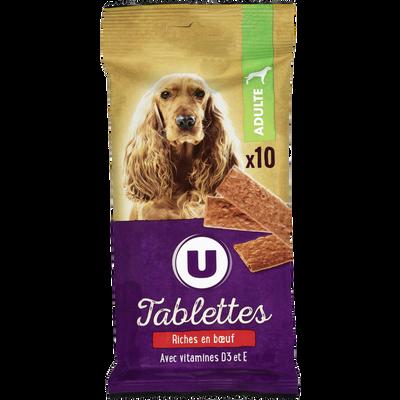 Tablettes pour chien riches en boeuf U, 10 unités de 104g