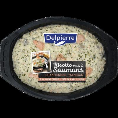 Risotto 2 saumons champignons, transformé en France, barquette 600g