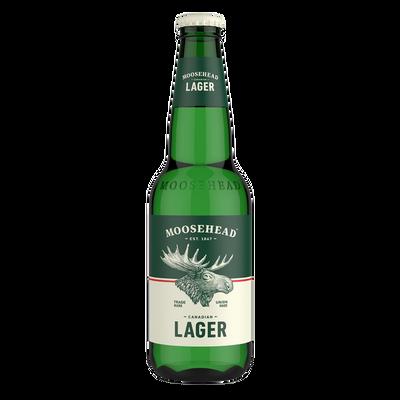 Bière blonde Lager MOOSEHEAD 5°, bouteille de 341ml