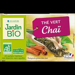 Thé vert JARDIN BIO, Chaï, x20