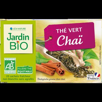 Thé vert Chaï JARDIN BIO
