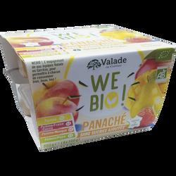 Purée de pommes panaché bio sans sucre ajouté WE BIO, 8x100g