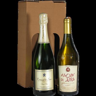 Vins du Jura FRUITIERE VINICOLE DE VOITEUR, coffret carton de 2 bouteilles de 0.75l