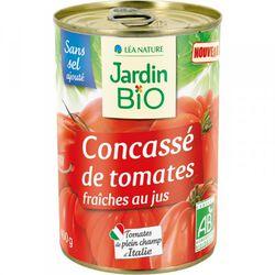 Tomates pelées concassées bio JARDIN BIO