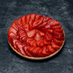Tarte aux fraises, décongelé, 6 parts, 820g