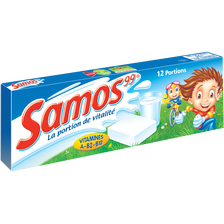 Fromage fondu au lait pasteurisé nature SAMOS, 12 portions soit 240g
