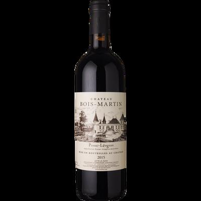 Vin rouge AOC Pessac Léognan Château Bois-Martin, bouteille de 75cl