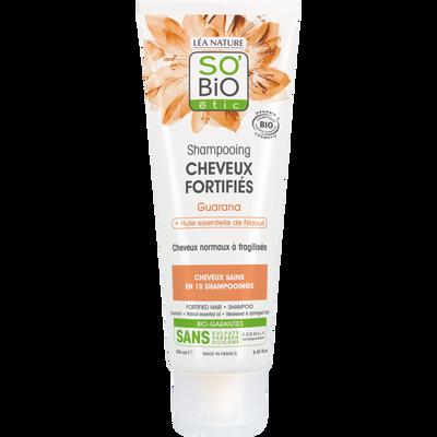 Shampooing pour cheveux fortifies guarana à lh'uile essentielle de Niaouli Bio LEA NATURE, tube de 250ml