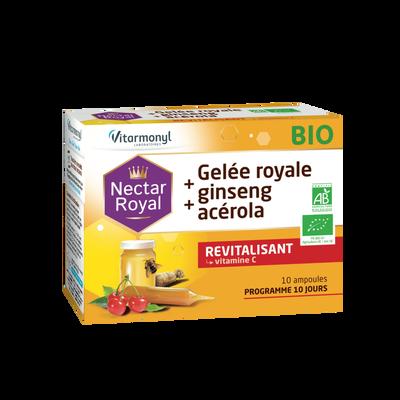 Nectar royal - gelée royale + ginseng + acérola bio