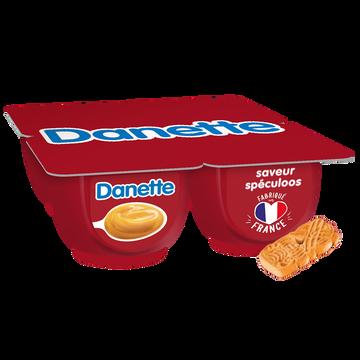 Danone Crème Dessert Saveur Speculoos Danette, 4x125g