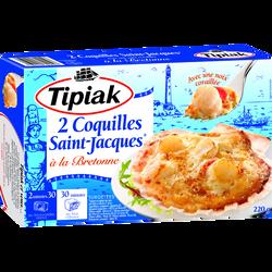 Coquilles St Jacques à la Bretonne TIPIAK, 2x110g