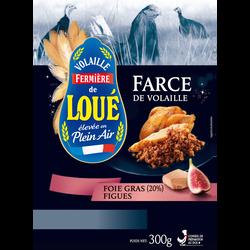 Farce de volaille de Loué au foie de canard et aux figues, LOUE, barquette, 300g