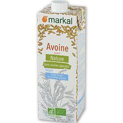 Boisson végétale BIO avoine nature, MARKAL, brique de 1l