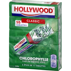Chewing-gum chloro Régular HOLLYWOOD, x11, 155g