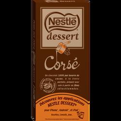 Chocolat noir corsé NESTLÉ DESSERT, tablette de 200g