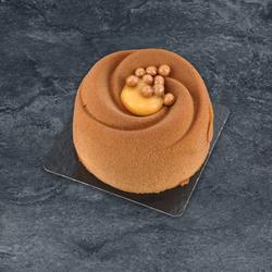 Entremets caramel chocolat décongelé, 1 pièce, 110g