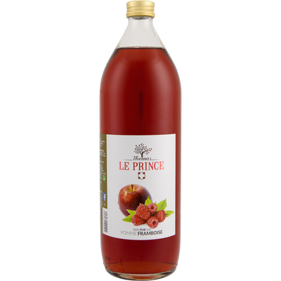Pur jus de pomme et framboise THOMAS LE PRINCE, 1 litre