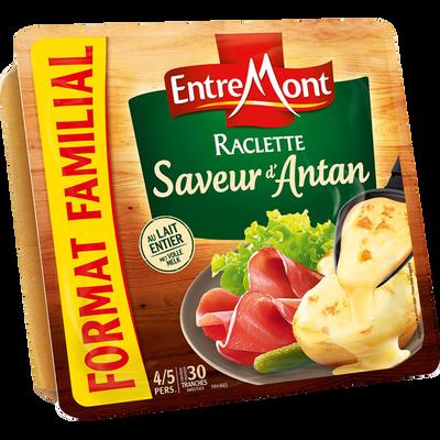 Fromage à pâte pressée non cuite au lait pasteurisé raclette saveur d'antan ENTREMONT, 29% de MG, 700g