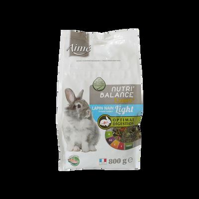 Mélange de granules lapin nain light nutribalance expert, AIME, 800g
