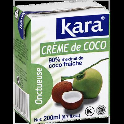 Crème de noix de coco Indonésie KARA, brique de 200ml