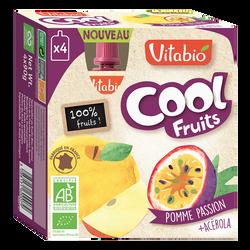 Cool fruits pomme passion VITABIO, 4 gourdes de 90g