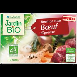 Bouillon cube graisse de boeuf bio JARDIN BIO 10x10g 100g