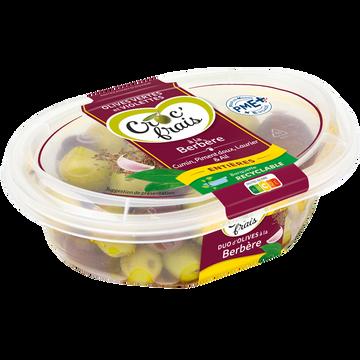 Croc' frais Olives Vertes Et Violettes À La Berbère, Croc'frais, Sans Conservateur, Barquette 250g