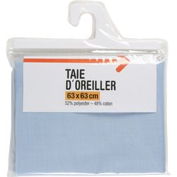 TAIE D'OREILLER UNIE 63X63CM QUALITE POLYCOTON MARQUE BLANCHE