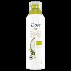 Mousse de douche surgras à l'huile de coco DOVE, pompe de 200ml