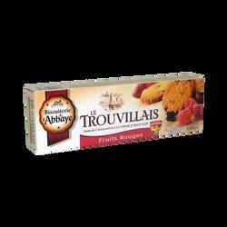 Sablés Le Trouvillais aux fruits rouges BISCUITERIE DE L'ABBAYE,  étuide 150g