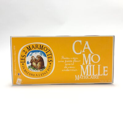 Infusion Camomille LES 2 MARMOTTES 30 sachets 30g