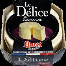 """Brillat Savarin affiné """"Délice de Bourgogne"""" LINCET, 38%MG, 200g"""