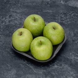 Pomme Granny Smith, BIO, calibre 115/135, catégorie 2, France, barquette 4 fruits