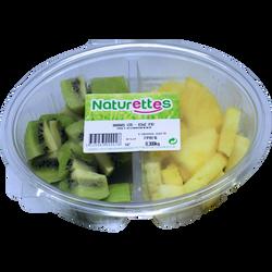 Duo ananas/kiwi, NATURETTES, barquette 280g