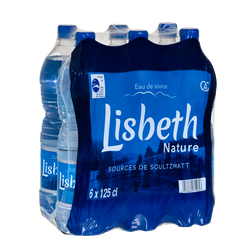 Eau de source LISBETH NATURE, 6 bouteilles de 1,25l