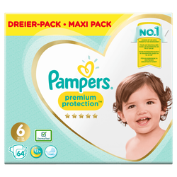 Couches premium protection PAMPERS 13-18kg mega taille 6 x64