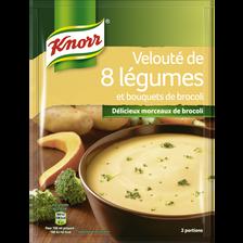 Soupe velouté de 8 légumes et bouquets de brocoli KNORR, 53g