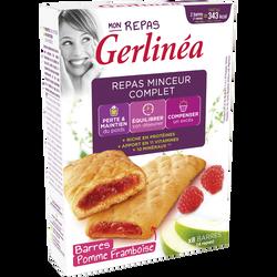Substitut de repas fourrés à la framboise GERLINEA, x8