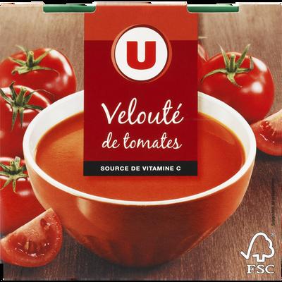 Velouté de tomates U, 2 briques de 30cl, 620g