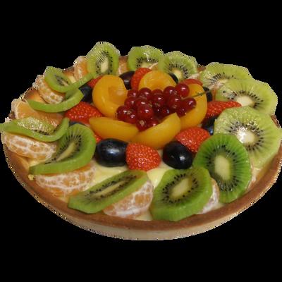 Tarte aux fruits panachés, 6 parts, 700g