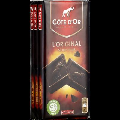 Chocolat noir CÔTE D'OR, 3x100g